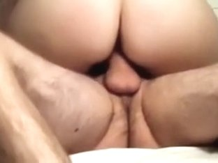 Non-Professional wife riding large and fat jock of her friend