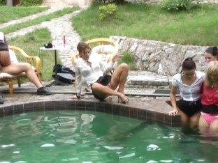 Exotic pornstars Barra Brass, Terra Sweet and Bella Baby in hottest group sex, blonde sex clip