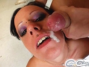 Cum For Cover Angels dick parade leaves her sucking five cocks