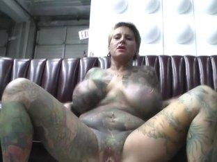 Crazy pornstar Black Widow in horny piercing, tattoos sex scene
