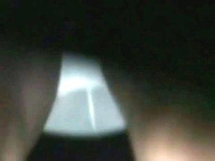 Fancy white panties caught in an upskirt spy cam shot