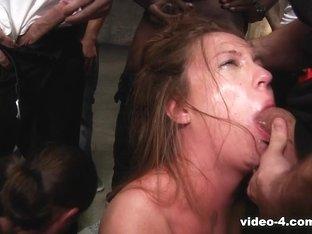 Best pornstars Manuel Ferrara, Jon Jon, Maddy Oreilly in Hottest Interracial, Gangbang xxx scene