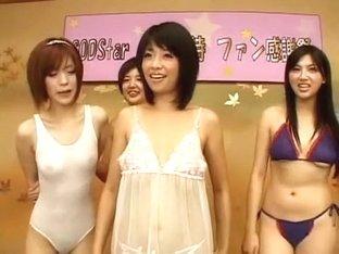 Horny Japanese chick Sakura Aida, Sasa Handa, Saori Hara in Hottest JAV video