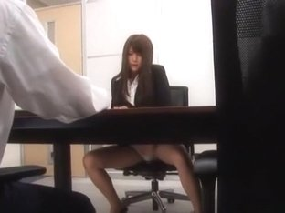 Hottest Japanese model Megu Fujiura in Horny Secretary, Threesomes JAV clip