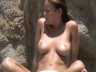 Spying on hot beach women