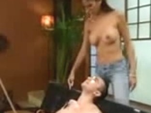 Bitch mistress dominates men and girls nad fucking them