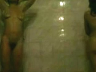 Hidden cam in shower takes some sexy shots of naked women