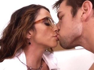 Busty teacher in sexy glasses Ariella Ferrera tries to find talents in the worst student Johnny Ca.