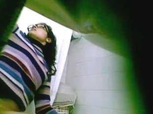 I caught a dark haired teen with glasses pissing on hidden cam