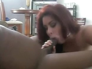Amateur redhead girl and one horny black guy
