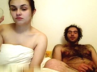 Hairy dude and his babe