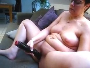 chubby mature plump slut anna and her big toy