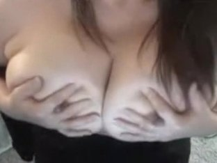 Squeezing milk off my sexy bosoms