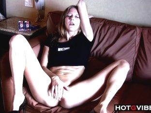 Petite Blonde Squirting in Hotel Room