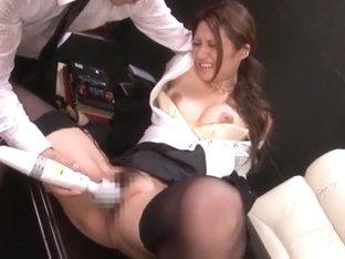 Amazing Japanese slut Rina Fujimoto in Exotic Stockings/Pansuto, Masturbation/Onanii JAV movie