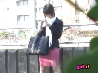 Enchanting brown-haired oriental gal getting pulled into sharking meeting