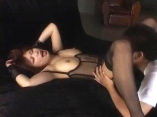 Crazy Japanese whore Hikari Hino in Best Lingerie, Creampie/Nakadashi JAV clip