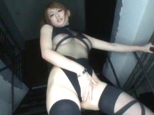 Hottest Japanese chick Reon Otowa in Crazy Masturbation/Onanii, Stockings/Pansuto JAV video