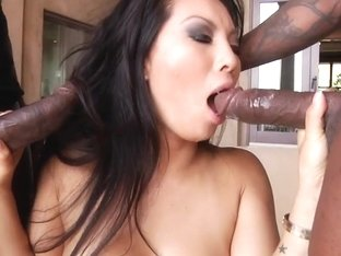 Sensual Asa Akira gets her mouth crammed with hard cock