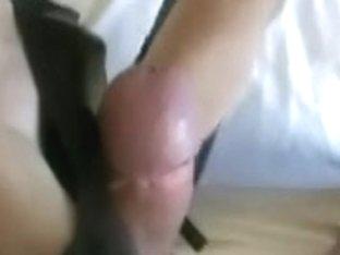 fine heeljob with dark mules