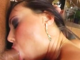The stunning brunette Cynthia is back and ready to get filled with cum.