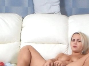 Beautiful Blonde Girl Ass And Pussy Dildoing