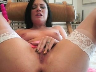 ATKGirlfriends video: toy deep inside Andy San Dimas' sweet shaved pussy.