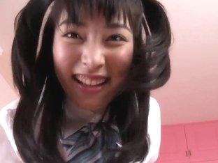 Charming Asian teen Kana Yume gives amateur foot job