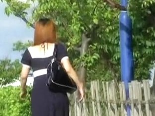 Kinky sharking video showing a lovely Japanese hottie