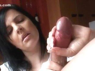 sensual handjob with a cumshot