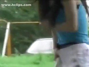 remove pantie on the street