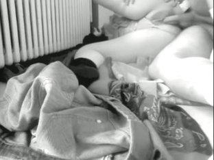 Amateur sex filmed in black & white