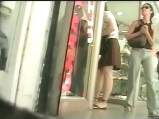 Mature nice ass windows shopping upskirt
