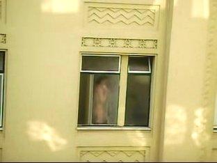 Voyeuring through the window opposite my own apartment