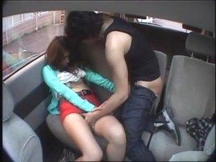 Hottest Japanese whore Azusa Tominaga in Exotic Car, Outdoor JAV clip