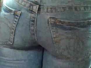 Young tight ass & butt in blue jeans