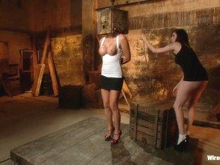 Fabulous big tits, blonde porn video with incredible pornstars Princess Donna Dolore and Skylar Pr.
