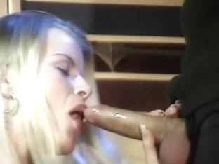 Slutty Blonde Sucks A Hard Dick