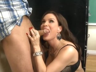 Cheating on tests? Lick your teacher's pussy now!