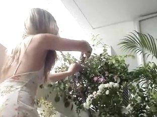 Hidden voyeur web camera allies gal with no pants filmed