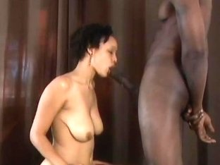 Hot Sicky Cum On A Long Tongue