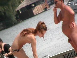 Naked bodies on the nudist beach filmed on my spy camera
