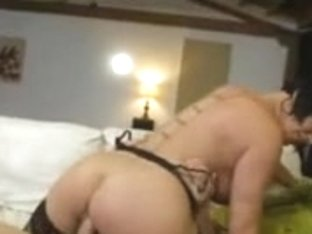 Big breasted brunette MILF enjoys sex with her young bf