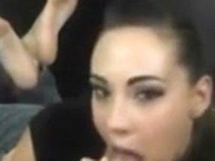 Sexy Dilettante Dark Brown Oral Sex