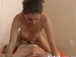 She rides virgin to creampie then keeps on riding!