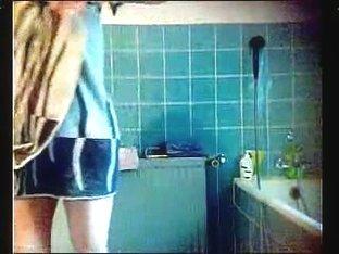 Big Ass Brunette Shower Spy Cam
