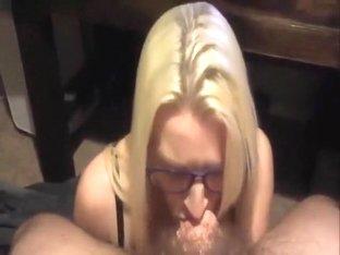 blond nerd sucking long dick