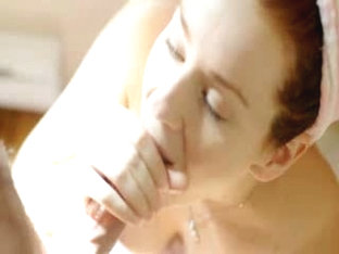 Beautiful Redhead GF After Shower BJ
