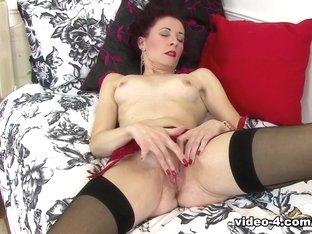 Horny pornstar in Hottest Stockings, Redhead sex video