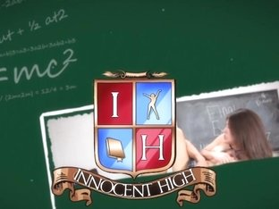 InnocentHigh - Tiny Blonde Student Fucks BBC Teacher